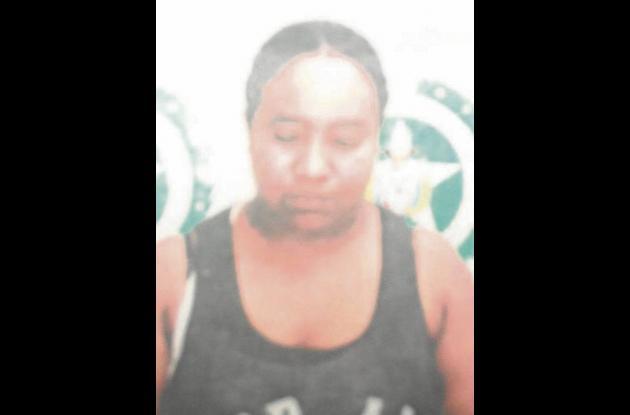 Enedys del Carmen Papila Ortega, capturada por la Policía.