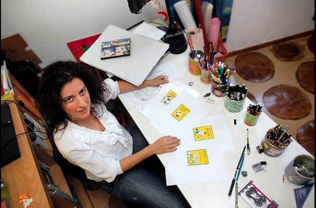 María Tzaboura, caricaturista del diario griego Proto Thema