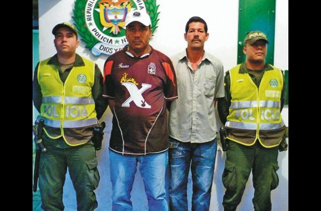 Luis Carlos Barreto Contreras y Edwin Antonio Navarro Polo, capturados