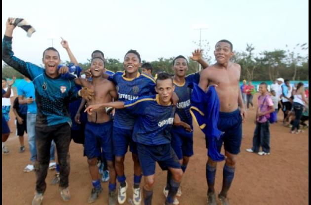 Cartagena se quedó con el título en fútbol masculino.