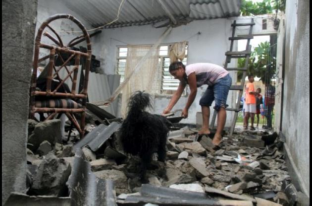 Casa afectada en Olaya Herrera