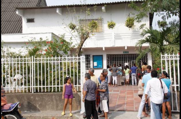 casa cural de la iglesia de Las Gaviotas.