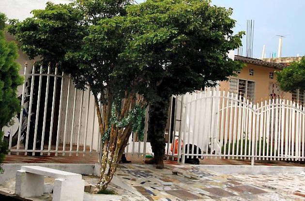 Casa donde ocurrieron los hechos donde una mujer fue acuchillada.