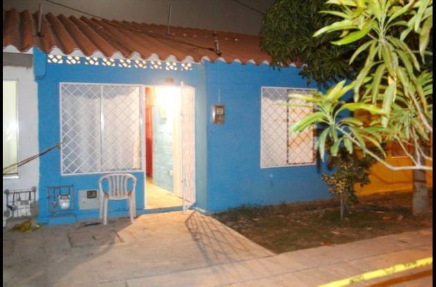 Casa donde ocurrieron los hechos en el barrio Colombiatón.
