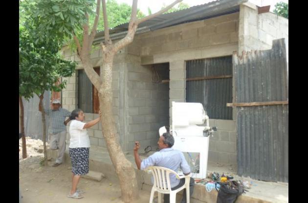 mejoramiento de vivienda en San Jacinto (Bolívar).