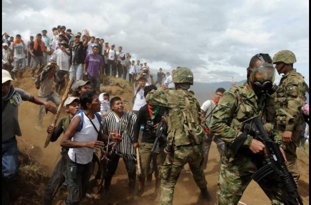 Enfrentamientos en el Cauca