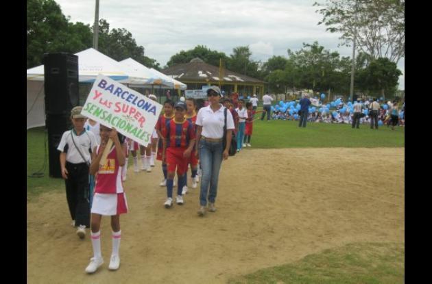 Colegio Comfacor inauguró juegos internos deportivos