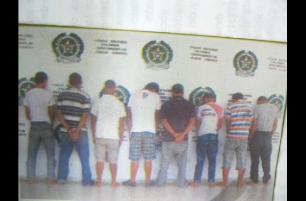 personas capturadas por los actos de violencia  en partido de fútbol de Cereté