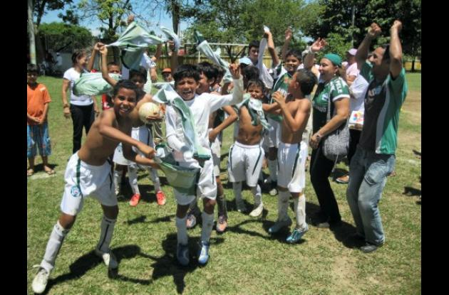 Festejo del título del Festival de Fútbol.