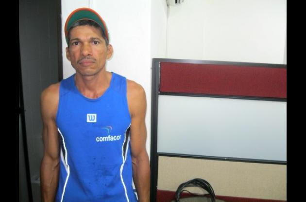 José Márquez, de Córdoba hoy en la carrera internacional en Bogotá.