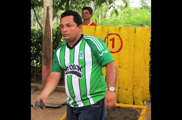 Tonny Cordero, representantes del tejo en Sahagún.