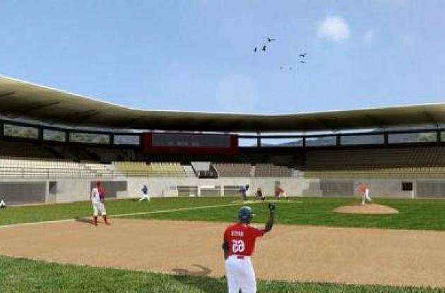 Así está proyectada la obra final del nuevo estadio de béisbol en Lorica. (foto