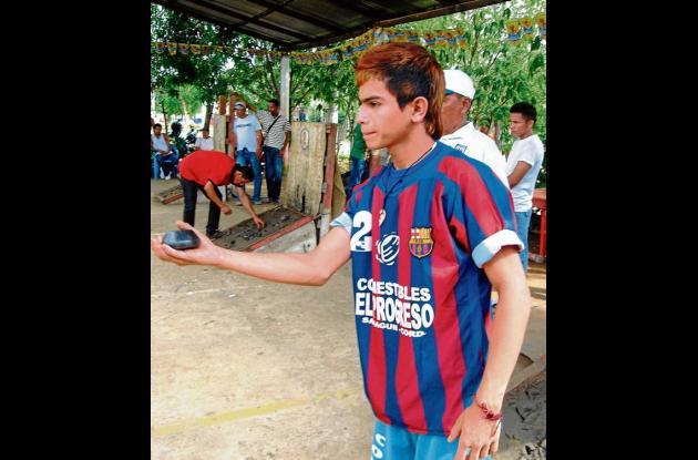 Luis Sierra, competidor de tejo.