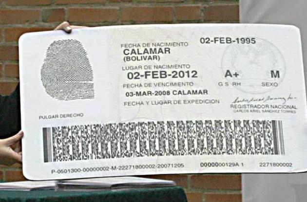 Expedición de cédulas en Colombia
