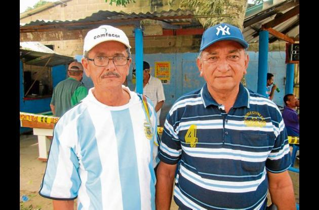 Fernando Rizo y Gabriel Barrios dirigentes del tejo en Córdoba.
