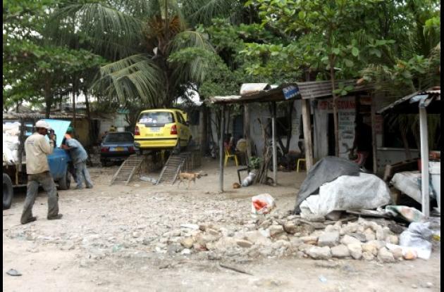 Invasión de lote en Chambacú.