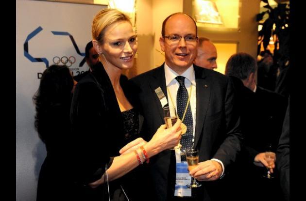 El príncipe Alberto y la princesa Charlene de Mónaco.