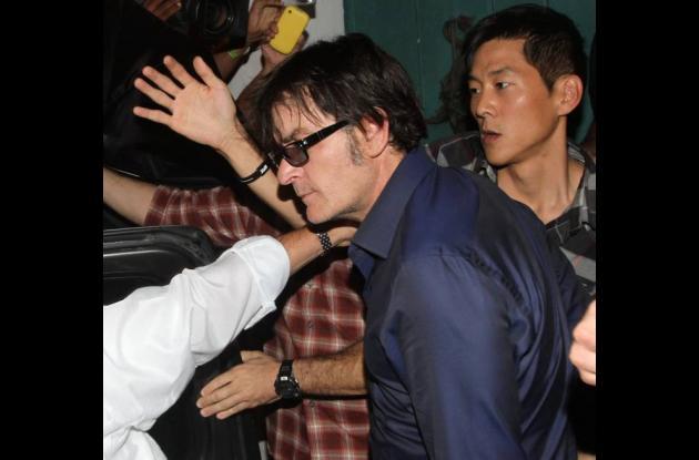 Charlie Sheen durante su visita en Cartagena, estuvo en La Vitrola.