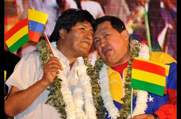 Evo Morales y Hugo Chávez.