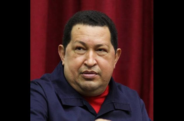 El mandatario venezolano, Hugo Chávez