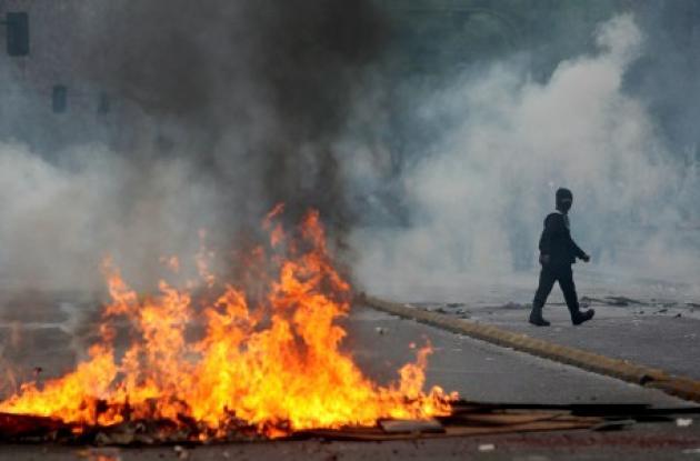 Disturbios presentados en el paro nacional de 48 horas en Chile.