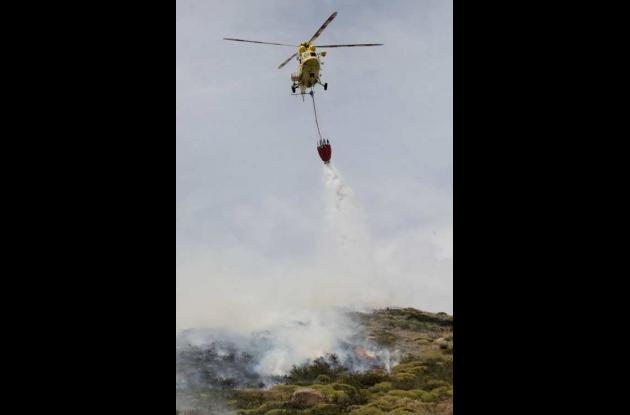 Incendio forestal en Chile.