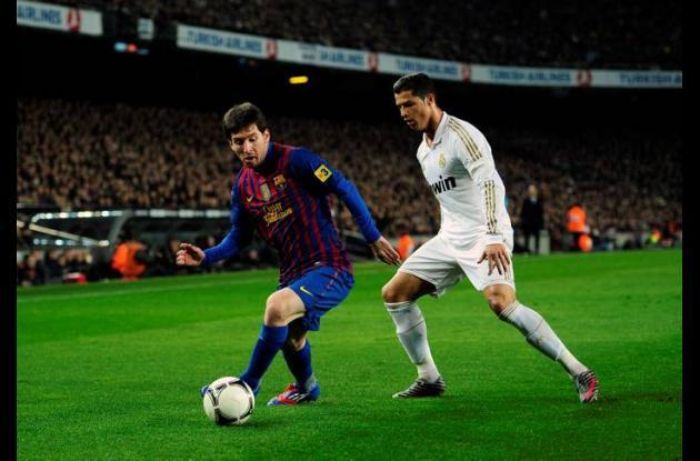 Leo Messi y Cristiano Ronaldo  en clásico español