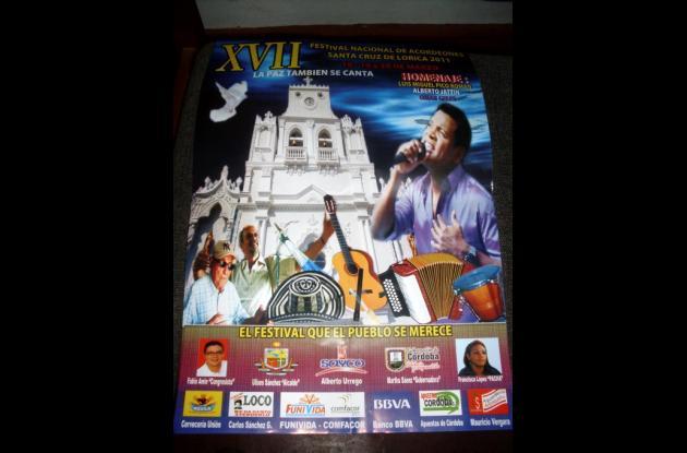 Afiche promocional del Festival Nacional Vallenato.