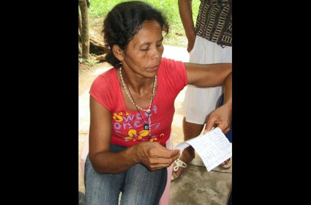 Maritza Causil, habitante de la localidad.
