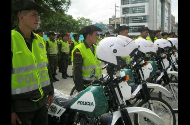Las 18 motos de alto cilindraje son para reforzar la seguridad en Montería.