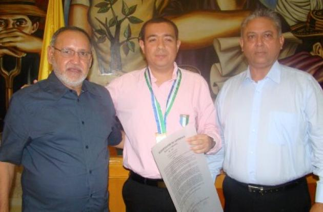 Pedro Tulena, César Barrera y Khabir Saibis
