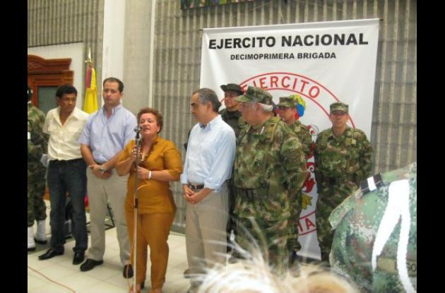 La gobernadora de Córdoba, Marta Sáenz.
