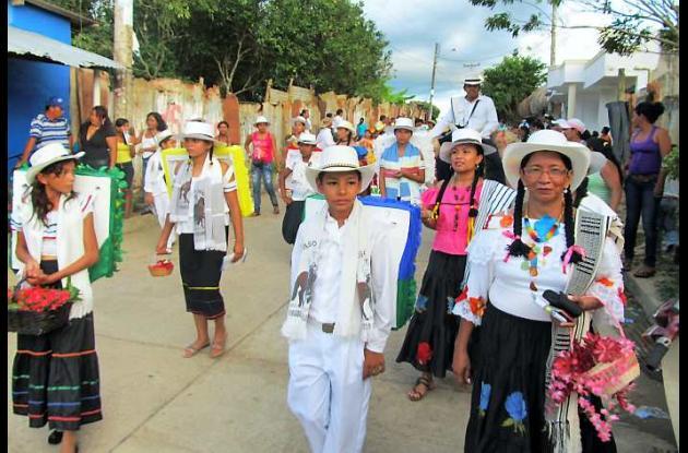 Muestra del desfile de silleteros.