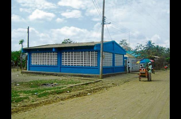 Instalaciones de la escuela rural de Los Gómez, jurisdicción de Lorica