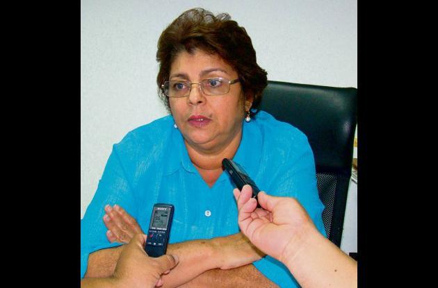 Noemí Carrascal, secretaria de educación de Córdoba.
