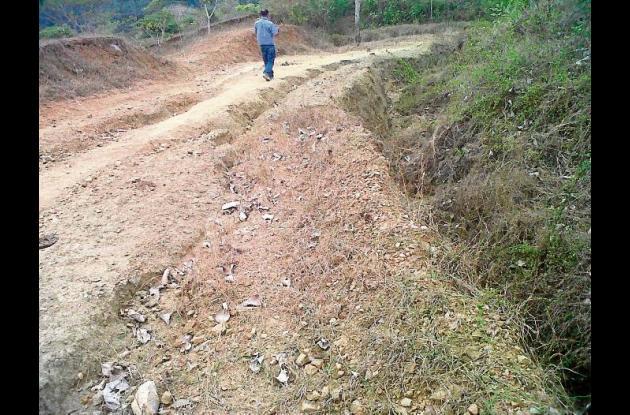 Hay 25 kilómetros erosionados y fracturados.