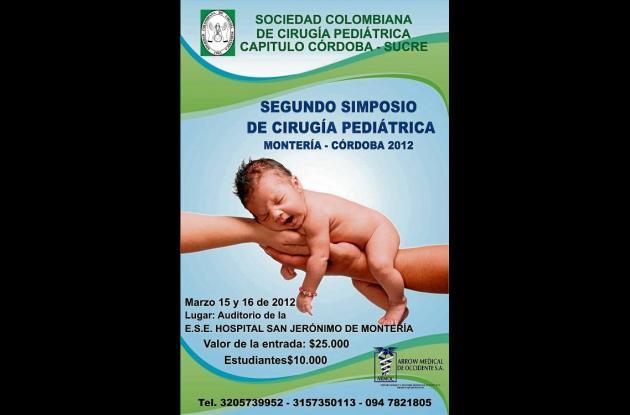 Segundo Congreso de Cirugía Pediátrica en Montería.