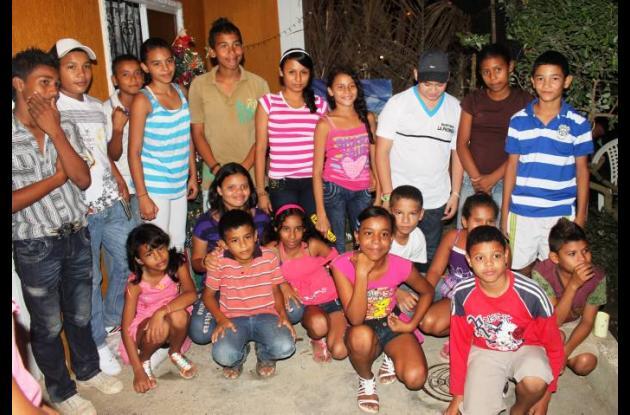 Los niños de Cantaclaro se mostraron felices con la sorpresa navideña de la CSA.