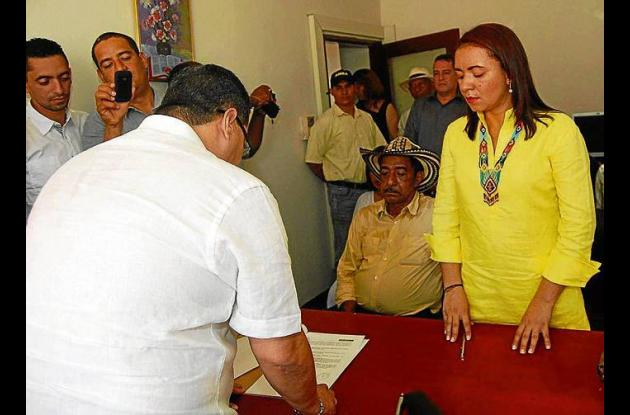 Lourdes Acosta Urzola, alcaldesa de Uré