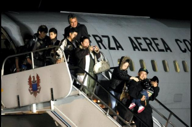 colombianos regresaron de  Japón