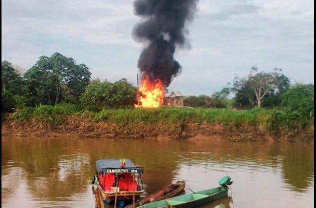 Explosión en dos gasoductos.