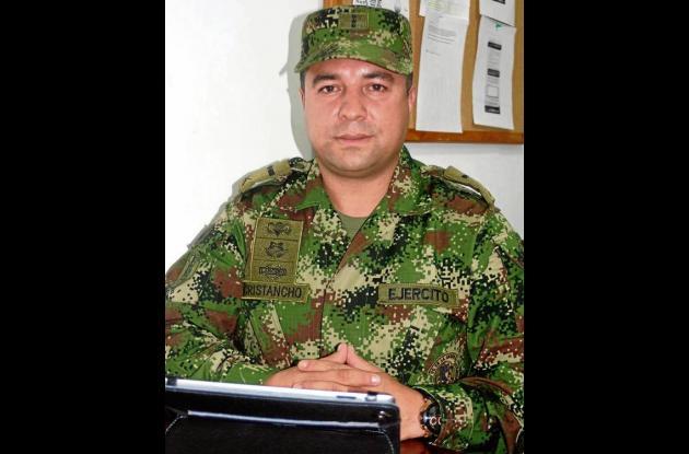 Mayor Carlos Cristancho, comandante del Distrito Militar No 11.