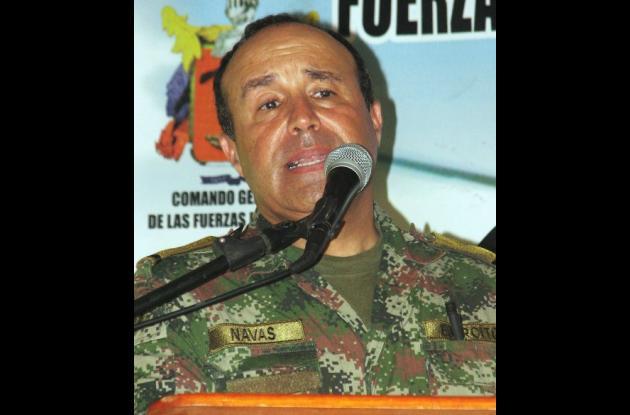 Comandante del Ejército, general Alejando Navas
