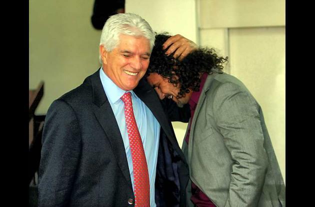 Julio Comesaña y Leonel Álvarez.