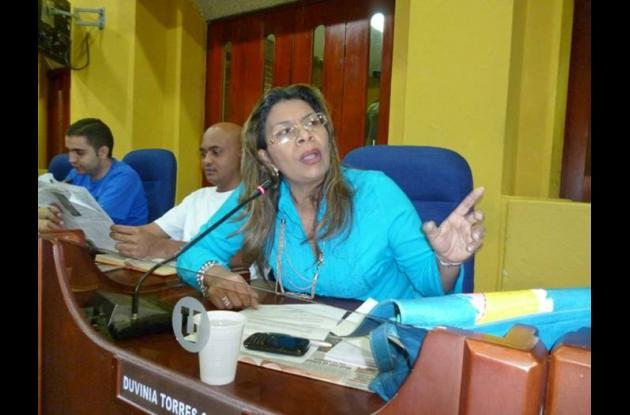 Duvinia Torres Cohen concejal.