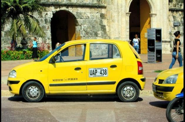 Paro de taxis en Cartagena.