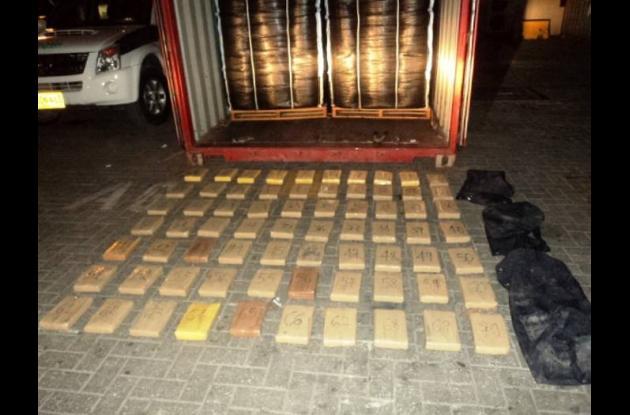 Los paquetes con la con la cocaína fueron introducidos en un contenedor proceden