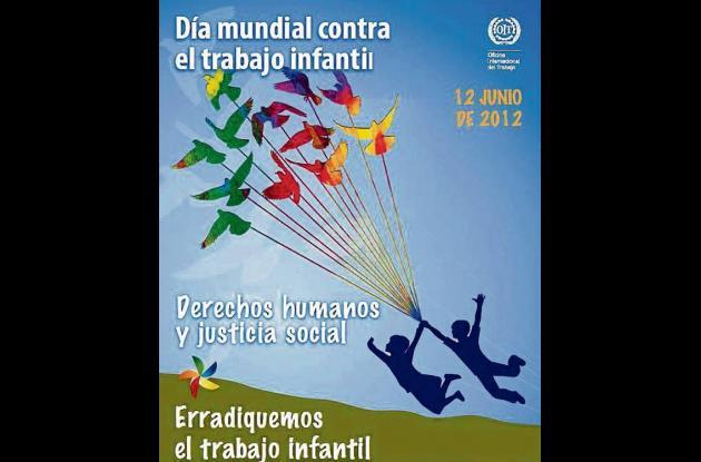 Afiche promocional del Día contra el Trabajo Infantil.