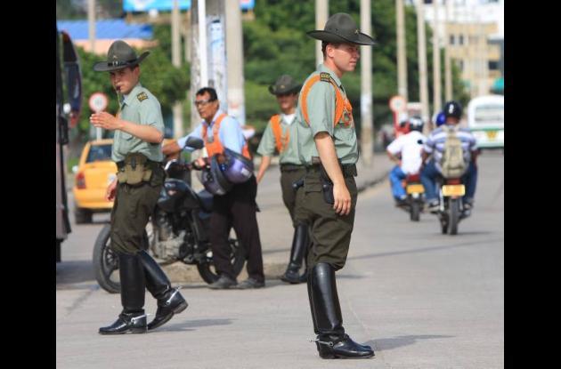 Controles de la Policía en Cartagena