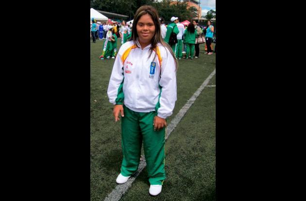 Andrea Torres en las XVII Olimpiada especial Fides – Compensar Iberoamérica en C